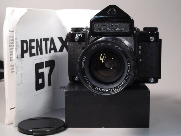 PENTAX 6X7 Medium Format Camera with Takumar 75mm f4.5 Lens