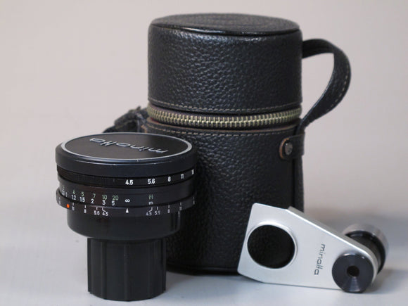 Minolta 21mm f4.5 Lens and Viewfinder RF