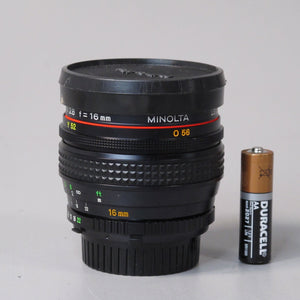 Minolta MD Fish-Eye 16mm f2.8 Lens