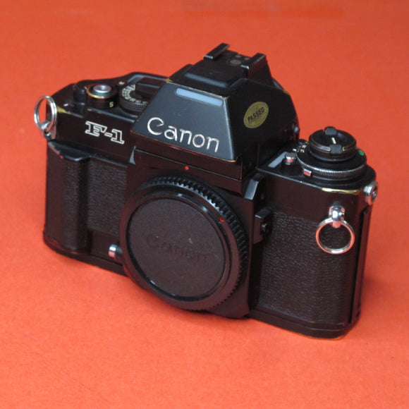 Canon F-1 35mm Camera Body in Black