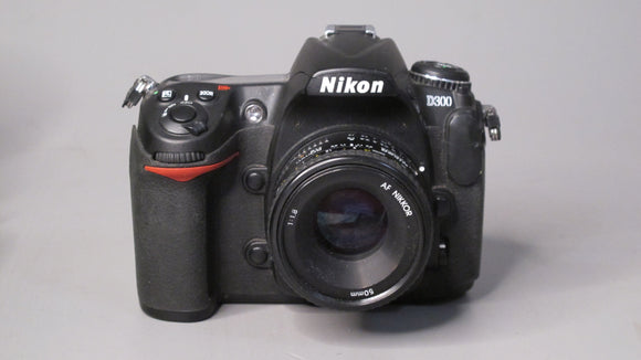 Nikon D300 Camera with a Nikon AF Nikkor 50mm f1.8 Lens