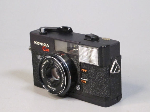 Konica C35 EF Camera with a Hexagon 38mm f2.8 Lens