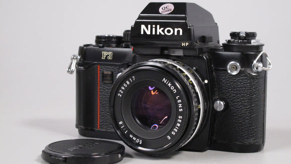 Nikon F3 HP Camera with Nikon 50mm f1.8 Lens