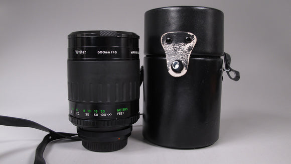 Vivitar 500mm f8 MIRROR LENS for Canon FD mount