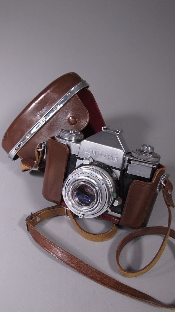 CONTAFLEX 35mm SLR with SYNCHRO-COMPUS Carl Zeiss Tessar 50cm f2.8 Lens