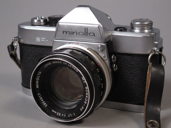 Minolta SR-1 35mm Camera with MC-ROKKOR 55mm f1.7 Lens