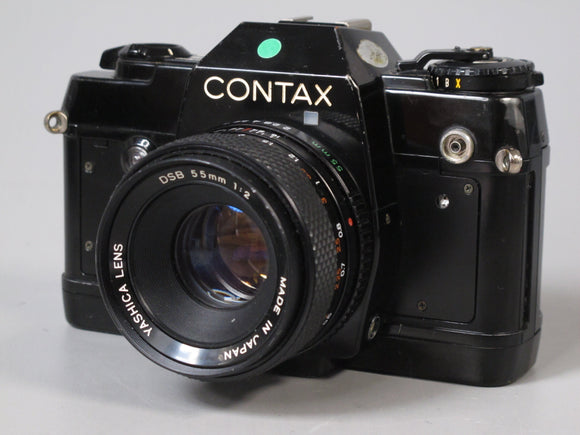 Contax 137 MA Quartz 35mm Camera with Yashica 55mm f2 Lens