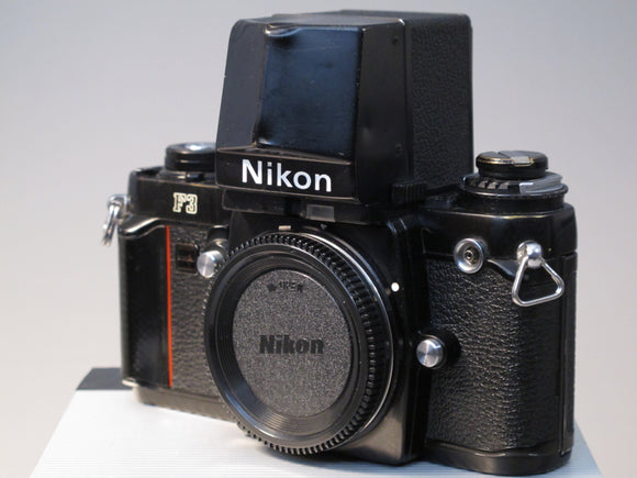 Black Nikon F3 35mm Camera body with Large Viewfinder