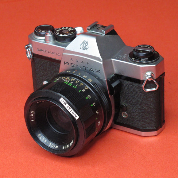 Pentax Spotmatic with 35mm f3.5 Wide-Auto Lens