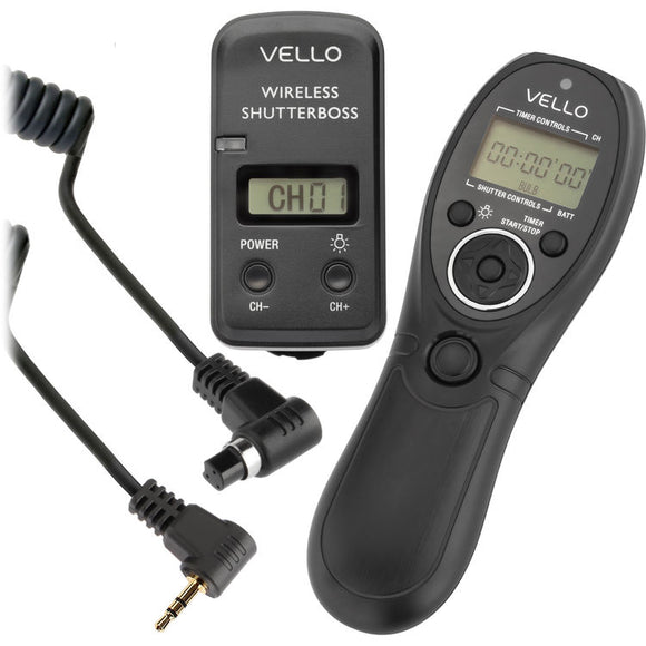 Vello Wireless ShutterBoss III Remote Switch with Digital Timer for Select Canon Cameras