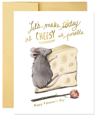 Good Juju Ink Cheesy Valentine Greeting Card