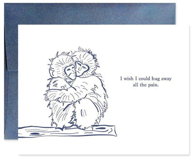 Pass the Salt Good Juju Ink Hug The Pain Away Greeting Card