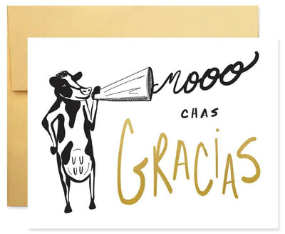 Pass the Salt Good Juju Ink Mooo-Chas Gracias Greeting Card