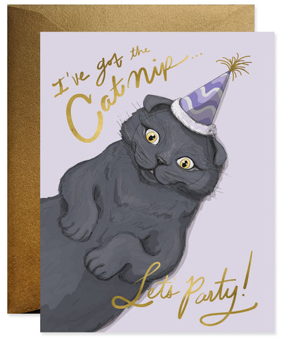 Good Juju Ink Cat Nip Birthday Greeting Card