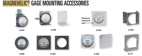 Dwyer Series 2000 Magnehelic Gauge Mounting Bracket Accessories