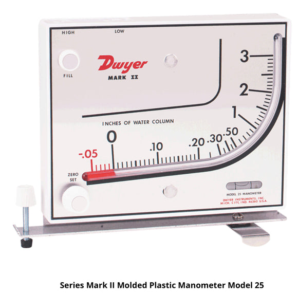 Dwyer Mark II Molded Plastic Manometer