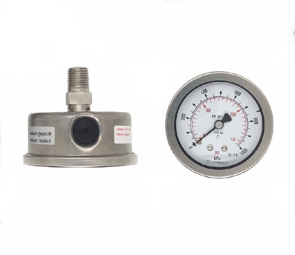 Afriso 50 mm All Stainless Steel Pressure Gauge