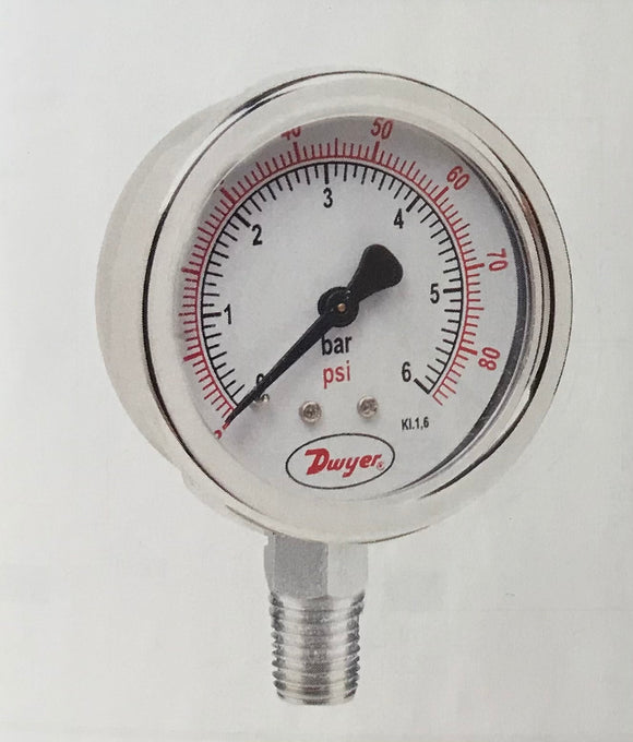 Dwyer 63mm All Stainless Steel Pressure Gauge
