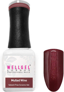 WellGel London Nail Gel Polish, Mulled Wine 10 ml