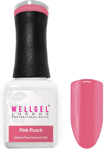 WellGel London Nail Gel Polish, Pink Punch 10 ml