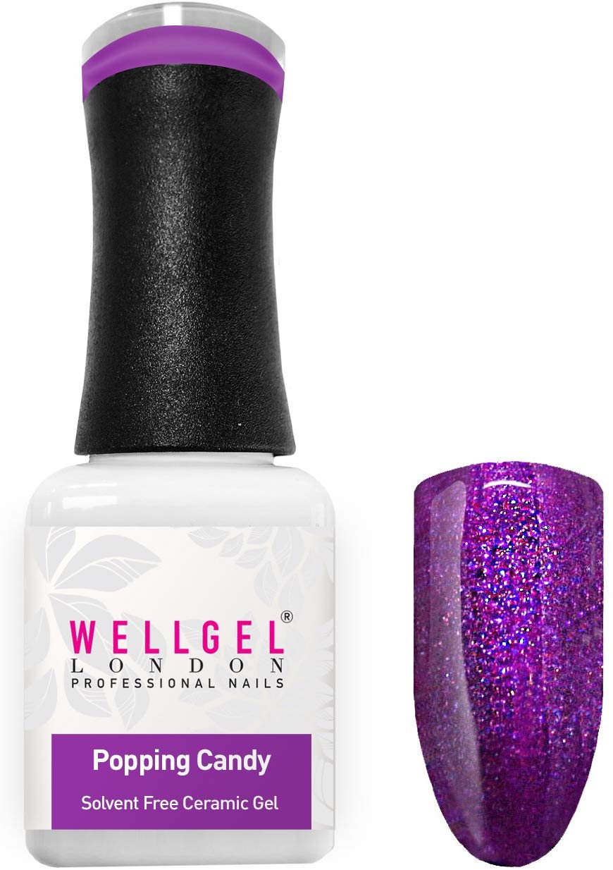 WellGel London Nail Gel Polish, Popping Candy 10 ml