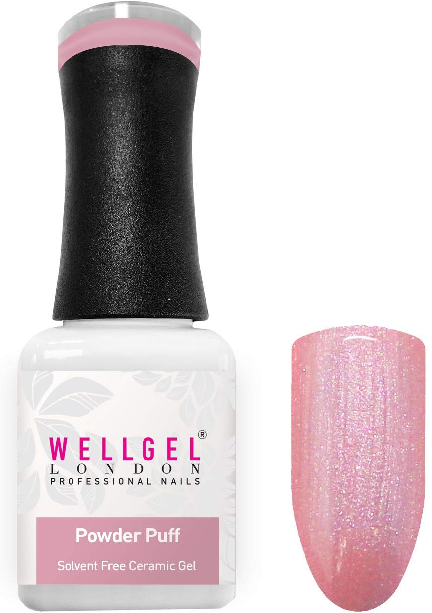 WellGel London Nail Gel Polish, Powder Puff 10 ml