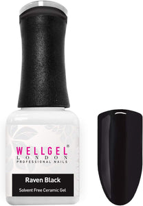 WellGel London Nail Gel Polish, Raven Black 10 ml