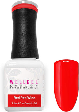 WellGel London Nail Gel Polish, Red Wine 10 ml