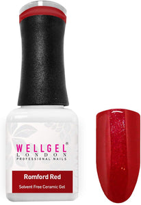 WellGel London Nail Gel Polish, Romford Red 10 ml
