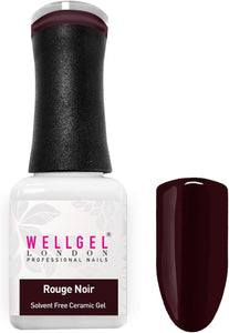 WellGel London Nail Gel Polish, Rouge Noir 10 ml
