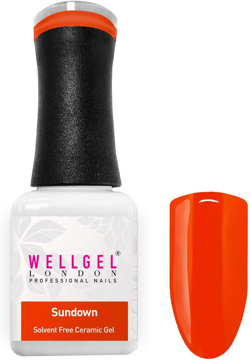 WellGel London Nail Gel Polish, Sun Down 10 ml