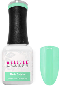 WellGel London Nail Gel Polish, Thats So Mint 10 ml