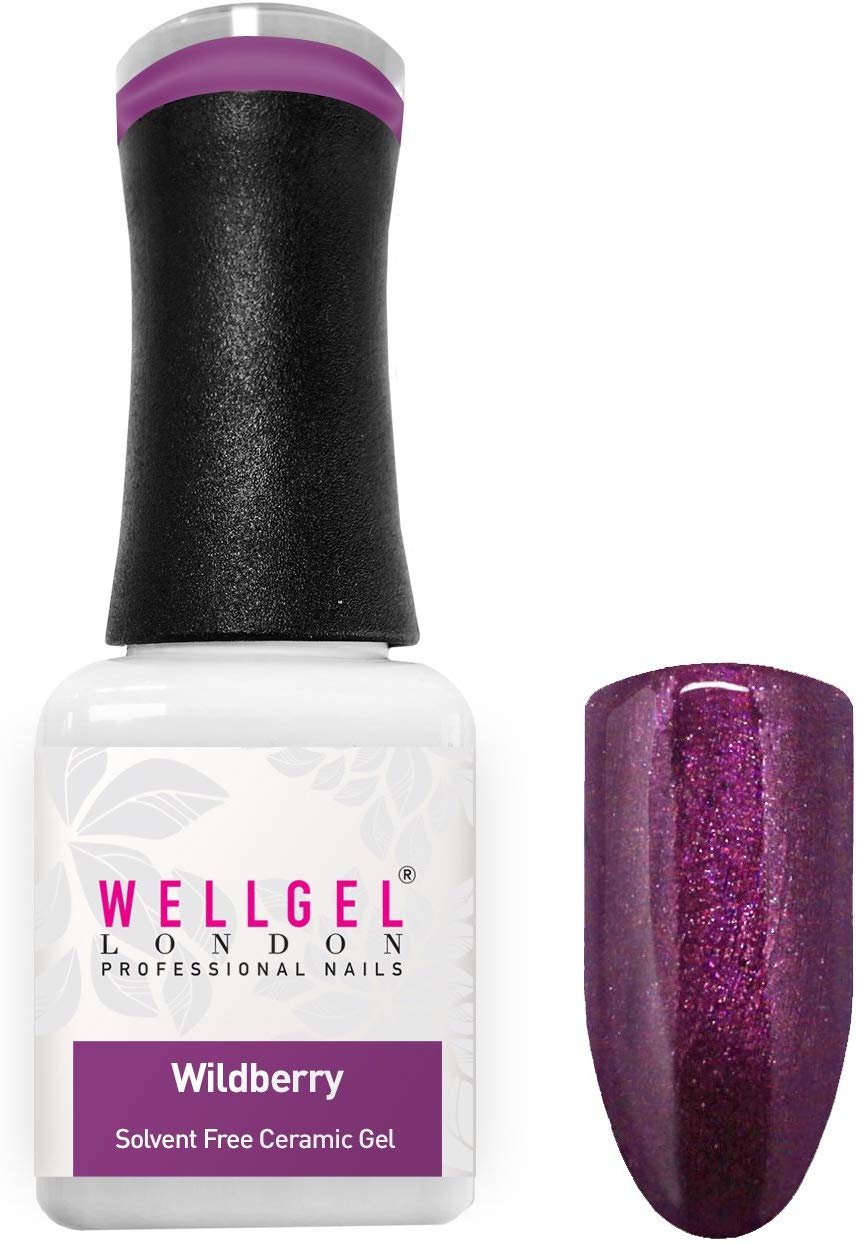 WellGel London Nail Gel Polish, WildBerry 10 ml