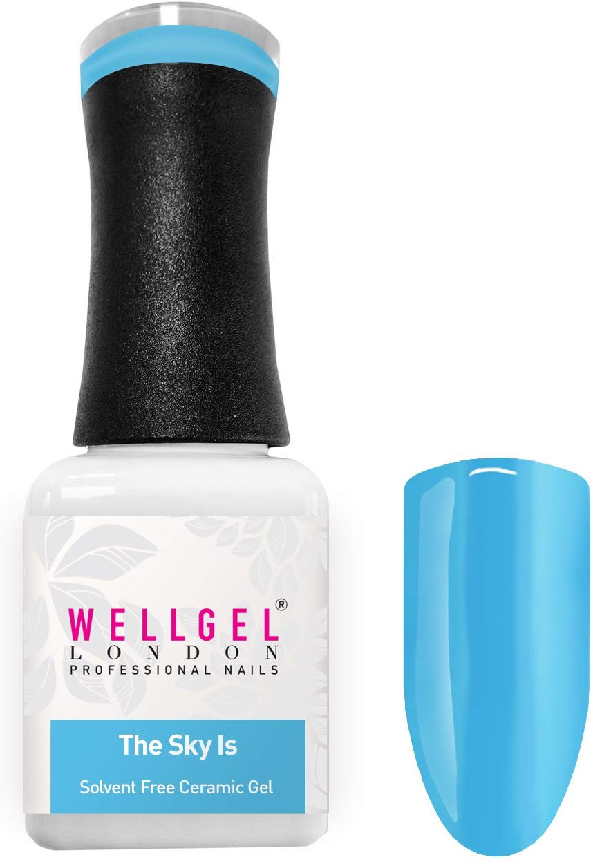 WellGel London Professional Nail Gel Polish, The Sky Is 10 ml