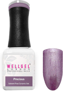 WellGel London Professional Nails Gel Polish Solvent Free Ceramic Gel, Presious 10 ml