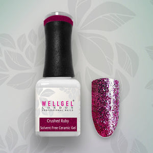 WellGel London Nail Gel Polish, Crushed Ruby 10 ml