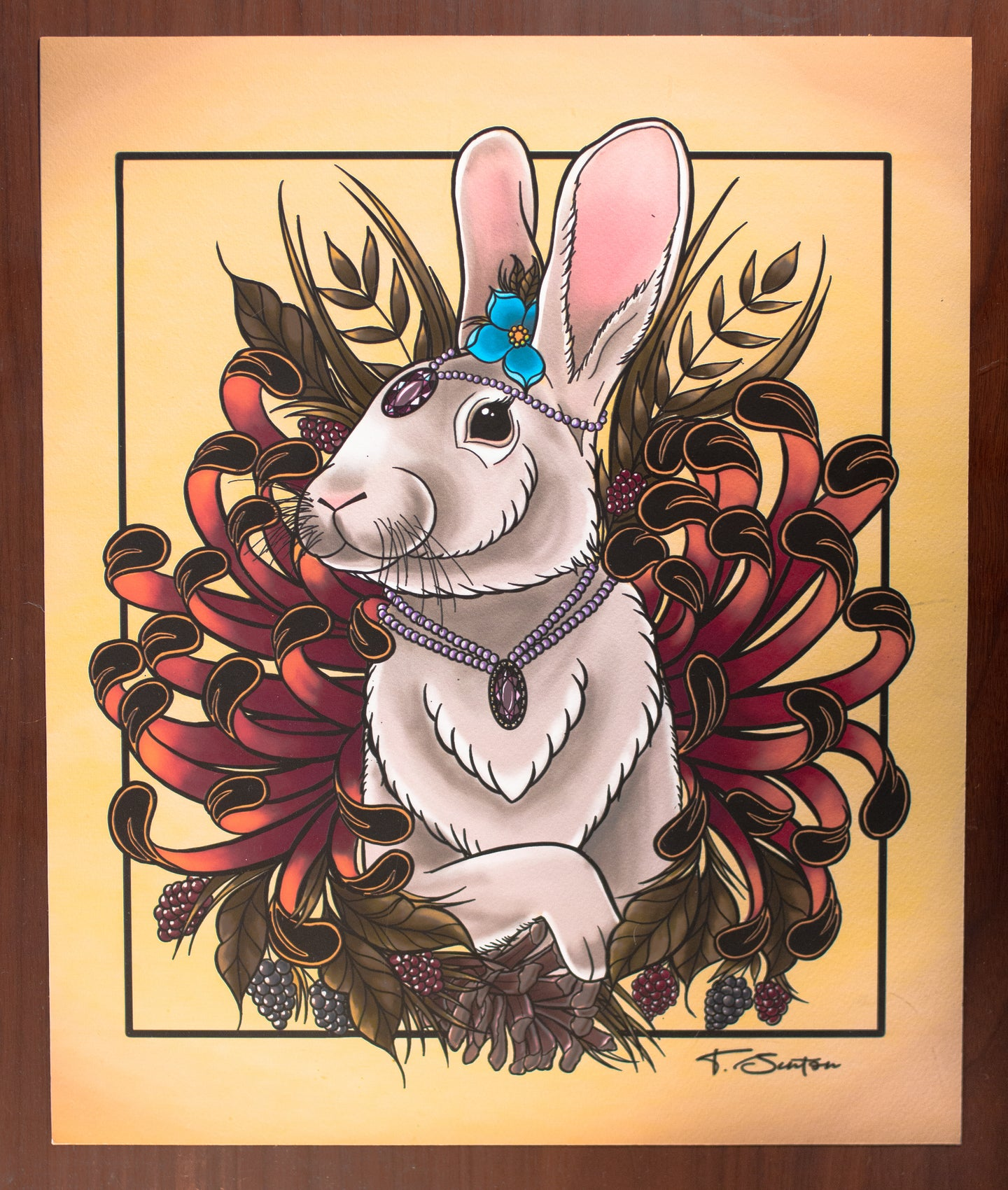 Royal Rabbit Print