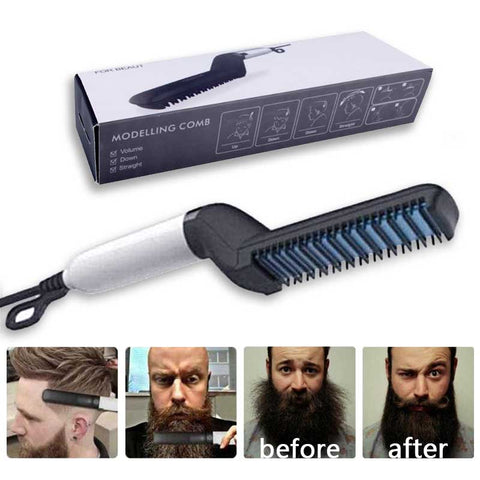 Multi functional Hair Comb Brush Beard Straightener Hair
