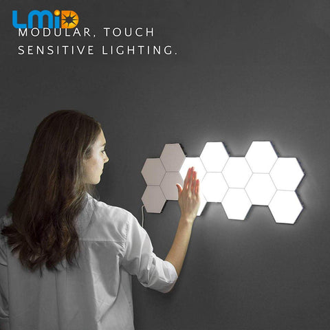 Night Light Magnetic Hexagons Creative Wall Decoration