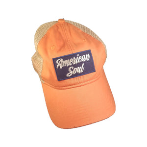 """American Soul"" Orange Trucker Hat"