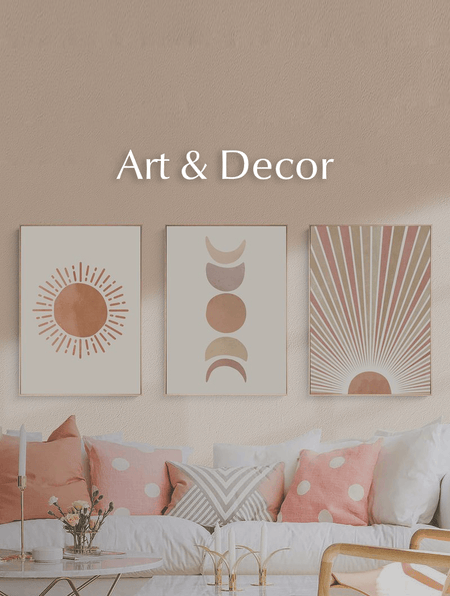 Decorate your walls and space with art and décor.