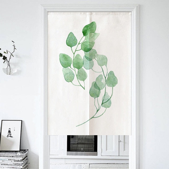 Tadasu Schefflera Kitchen Door Curtain