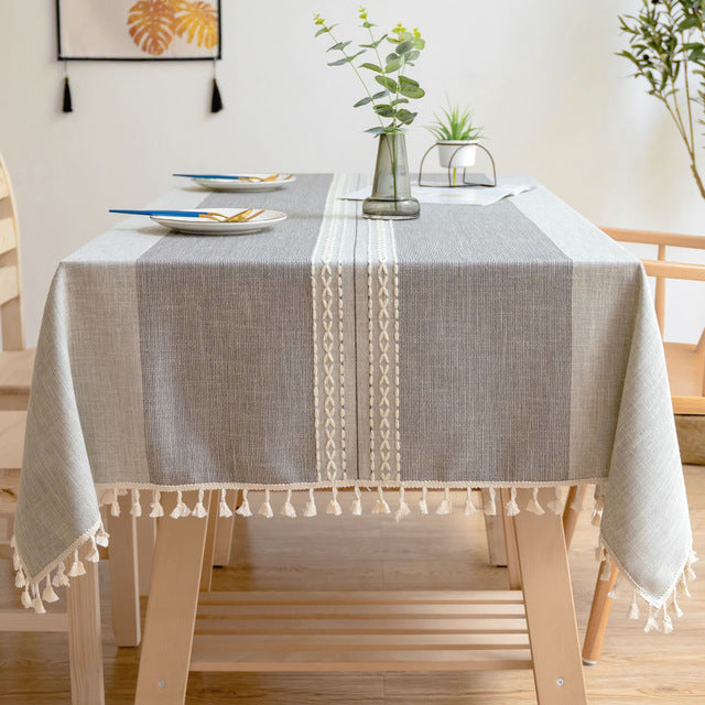Karla Blue Embroidered Table Cover