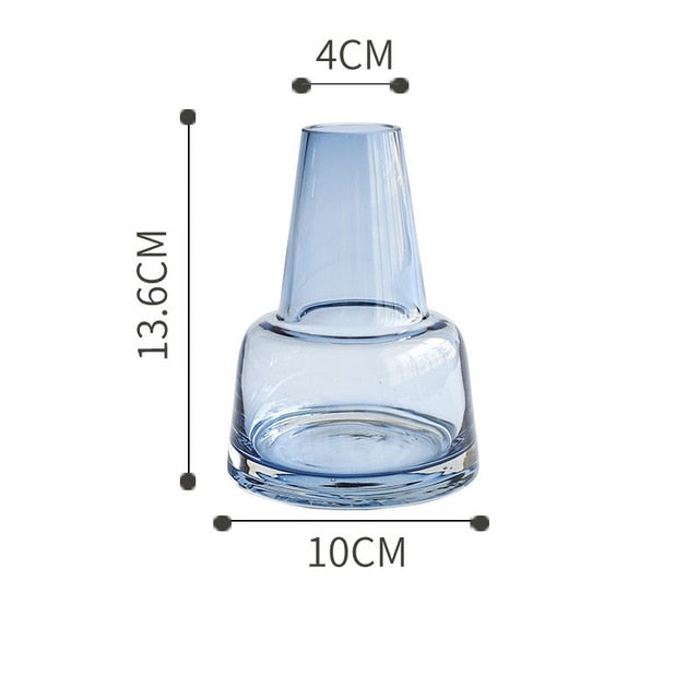 Noor Transparent Glass Vase