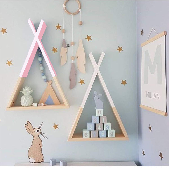 Millard Triangular Wall Frame Rack