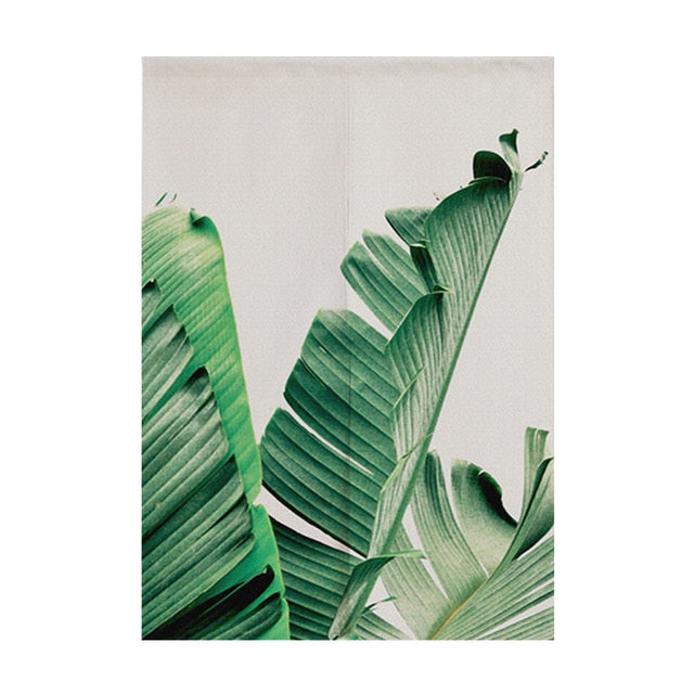 Madeline Coconut Leaves Door Curtain