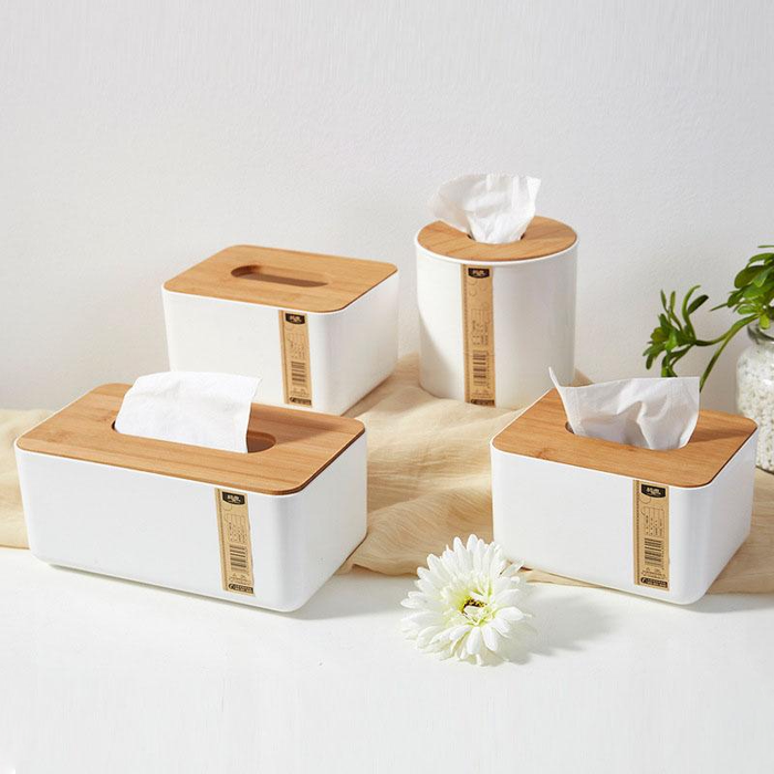 Hanna White Tissue Holder