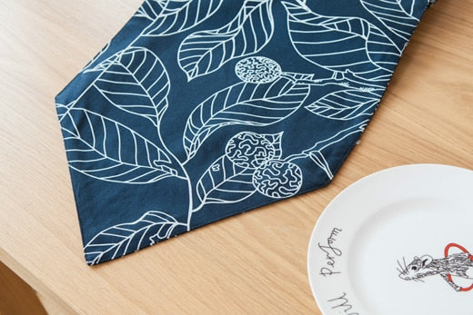 Lilian Navy Table Runner