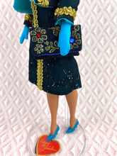 "Load image into Gallery viewer, ""Gilded Gadabout in Turquoise Twilight"" - OOAK Doll"