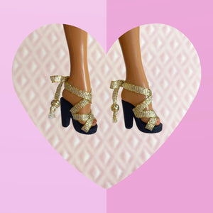 Scandal Sandal in Gold